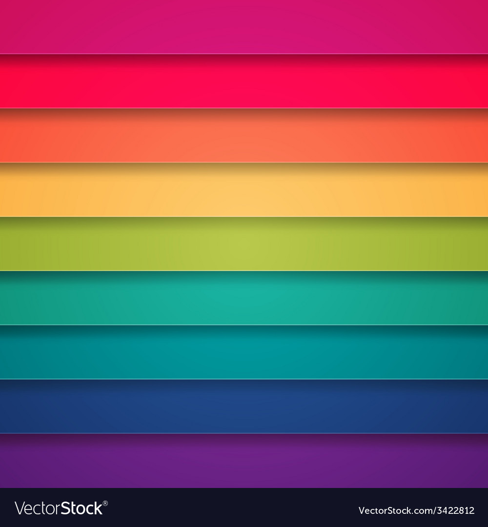 Rainbow colorful stripes abstract background vector | Price: 1 Credit (USD $1)