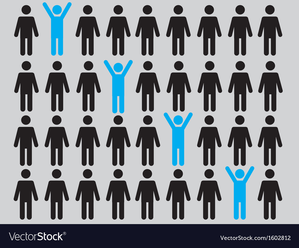 Successful people background vector | Price: 1 Credit (USD $1)