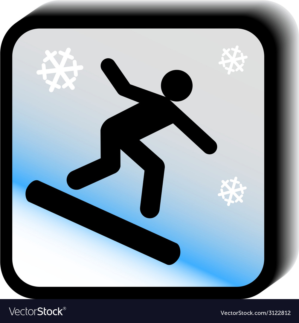 Winter icon -skateboard vector | Price: 1 Credit (USD $1)
