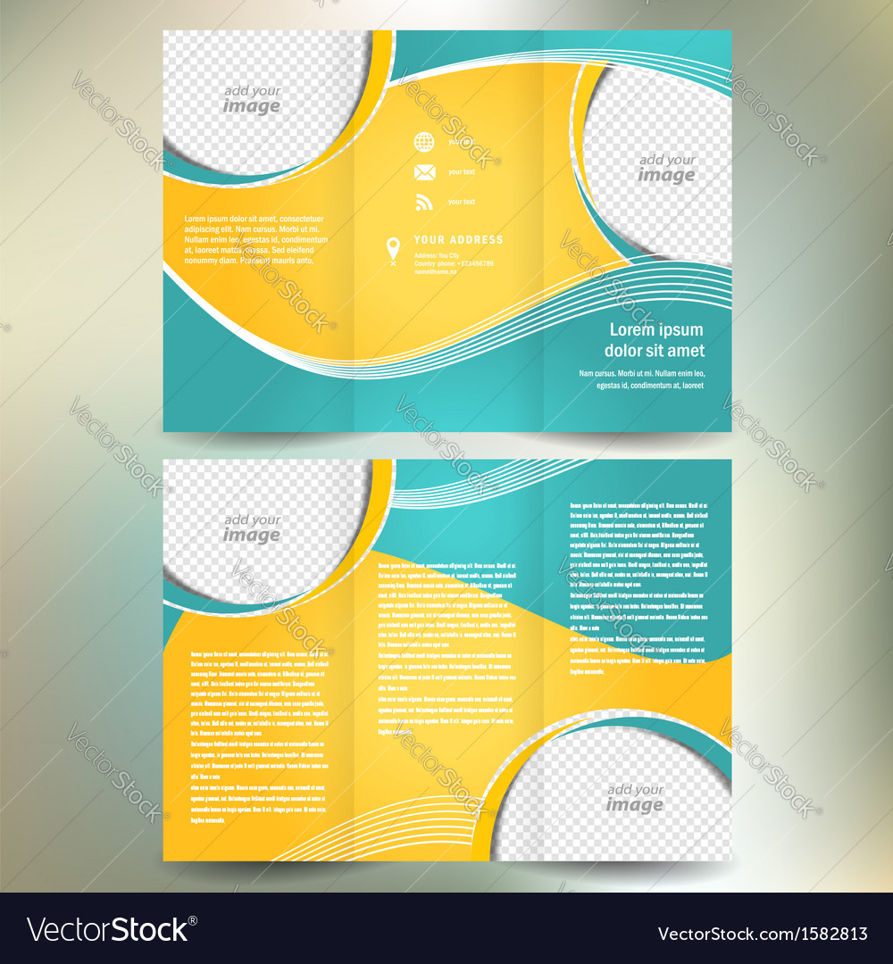 Brochure geometric abstract element color vector | Price: 1 Credit (USD $1)