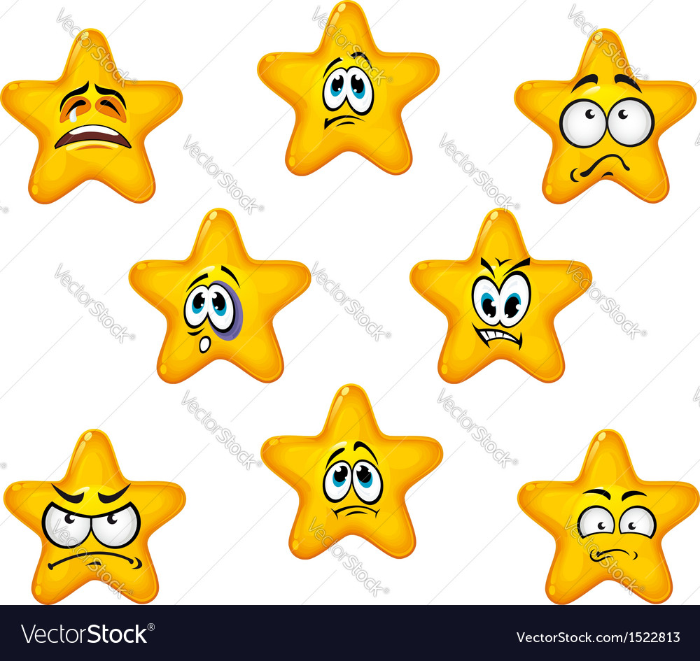 Emotional star icons vector | Price: 1 Credit (USD $1)