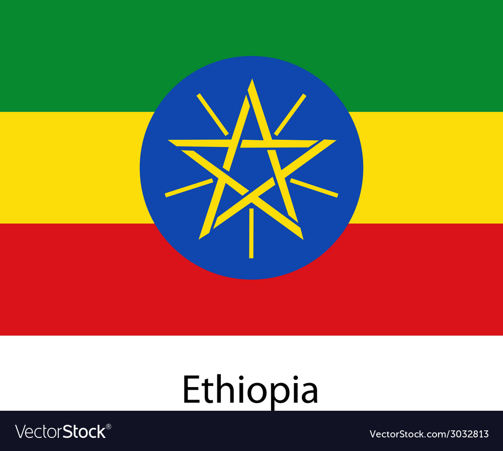 Flag of the country ethiopia vector | Price: 1 Credit (USD $1)