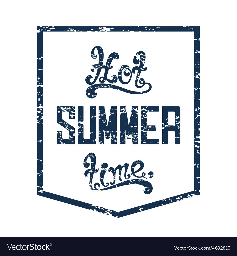Hot summer time calligraphic handwritten vector   Price: 1 Credit (USD $1)