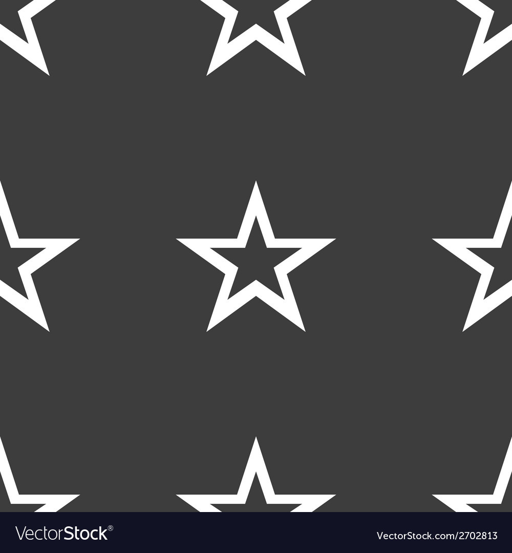 Star web icon flat design seamless gray pattern vector | Price: 1 Credit (USD $1)