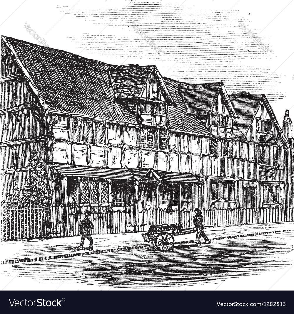 Stratford-upon-avon engraving vector | Price: 1 Credit (USD $1)