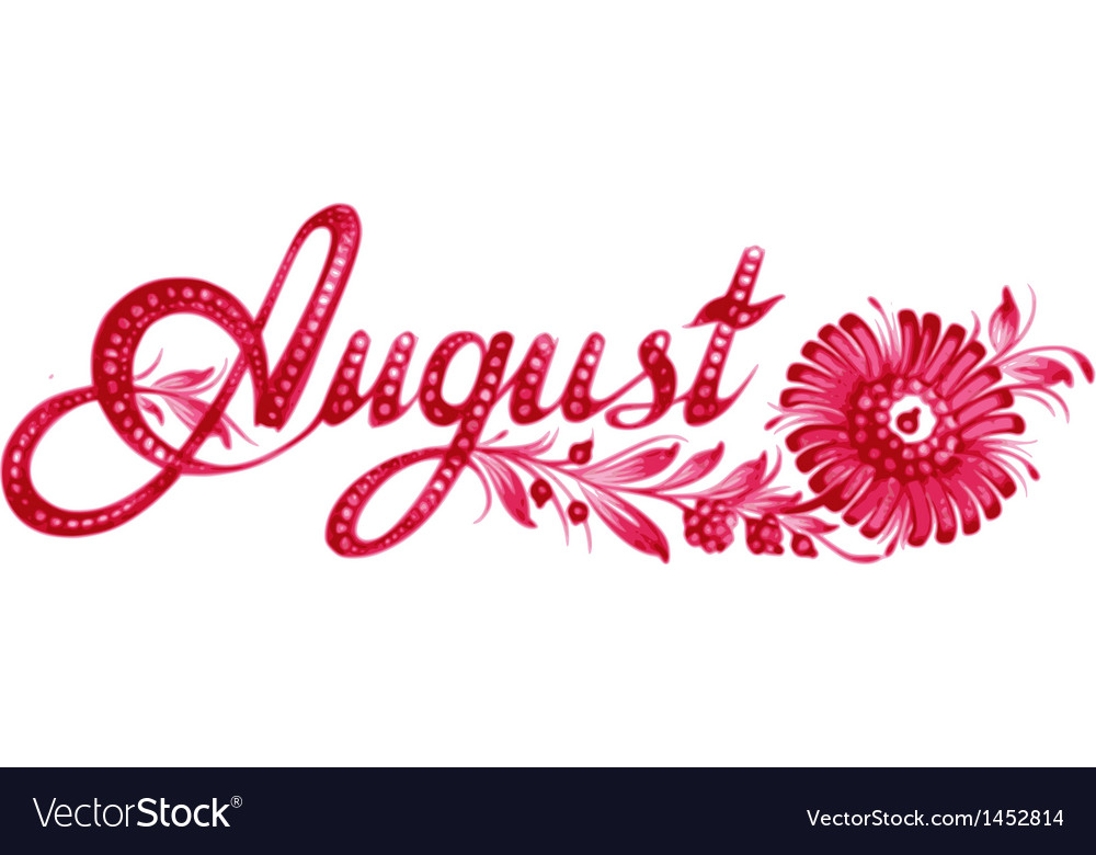 August the name of the month vector | Price: 1 Credit (USD $1)