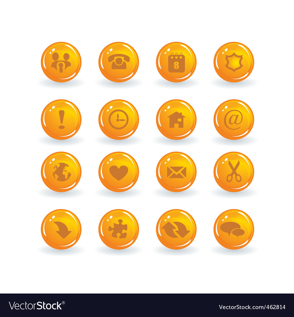 Button icons vector | Price: 1 Credit (USD $1)