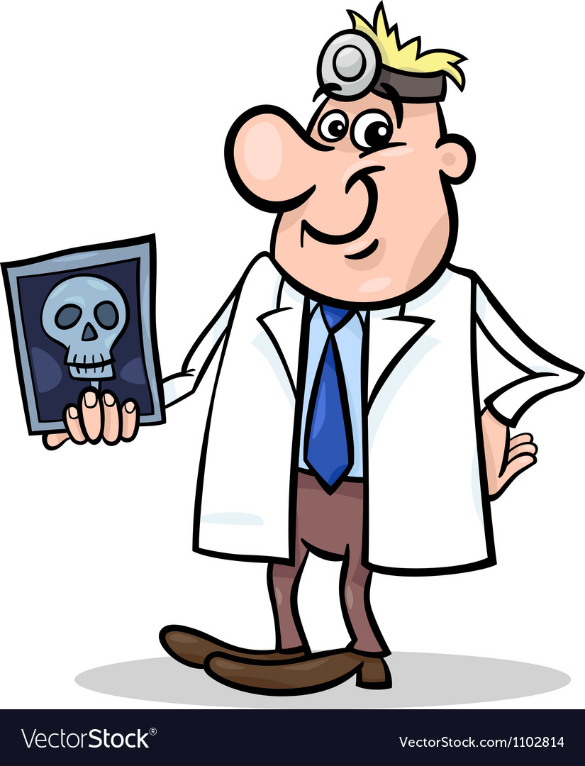 Cartoon doctor with xray vector | Price: 1 Credit (USD $1)