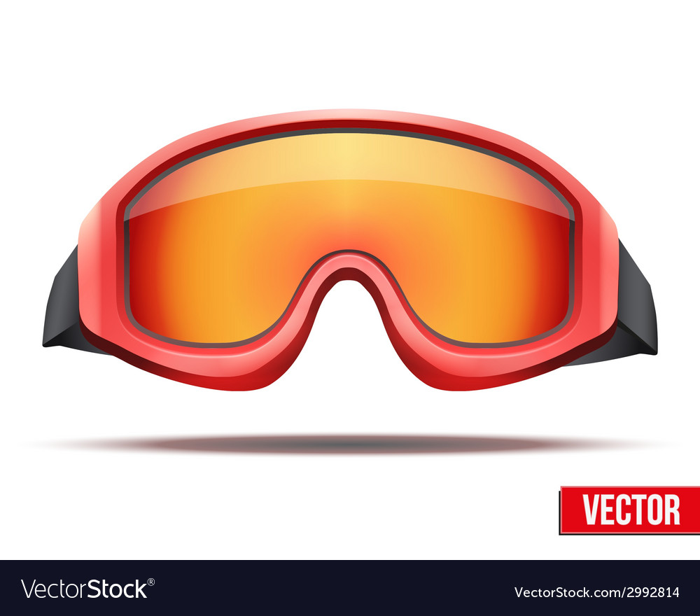 Classic red snowboard ski goggles with colorful vector | Price: 1 Credit (USD $1)