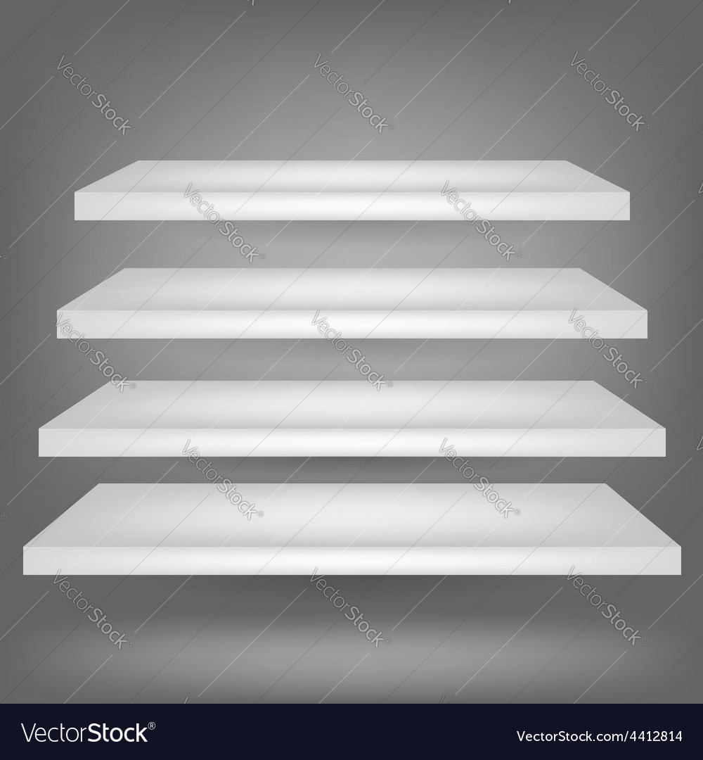 Emrty shelves vector | Price: 1 Credit (USD $1)