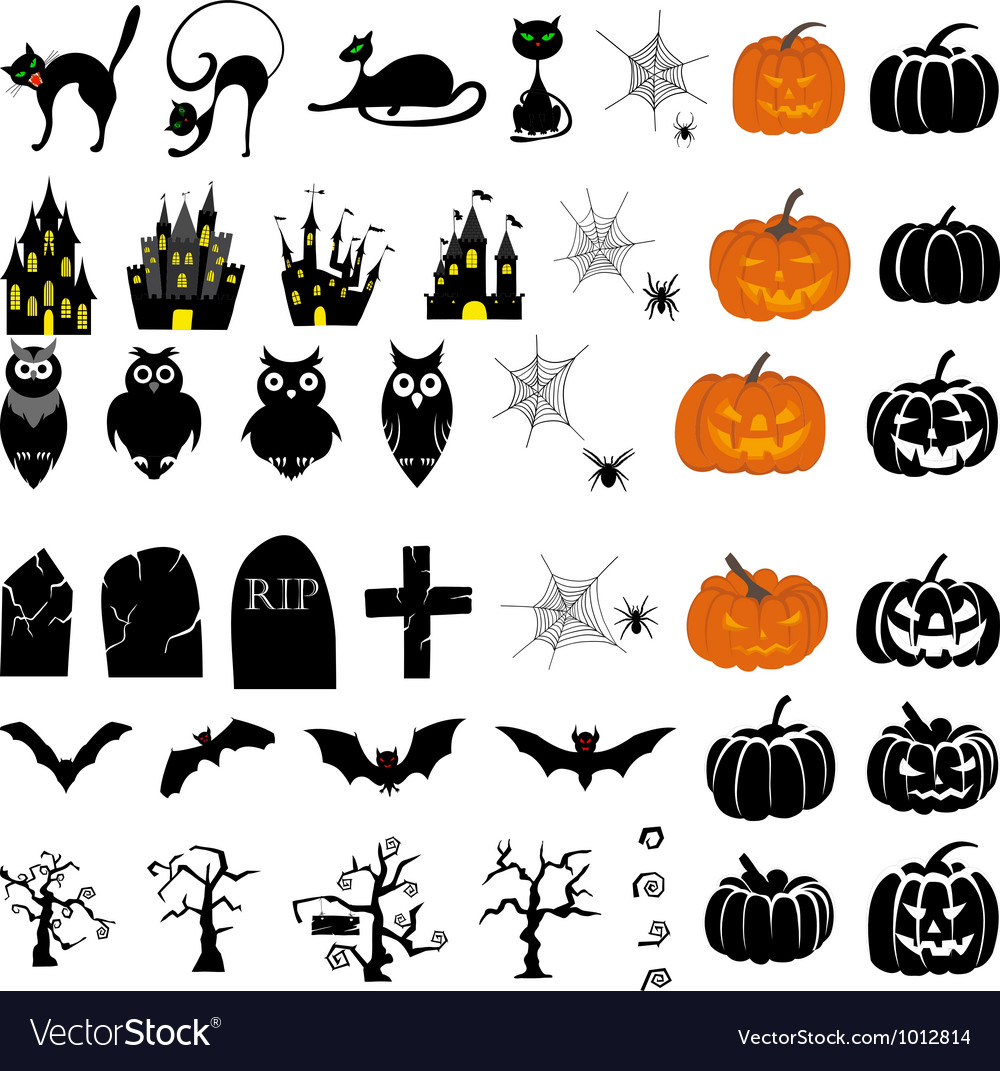 Halloween set big vector | Price: 1 Credit (USD $1)