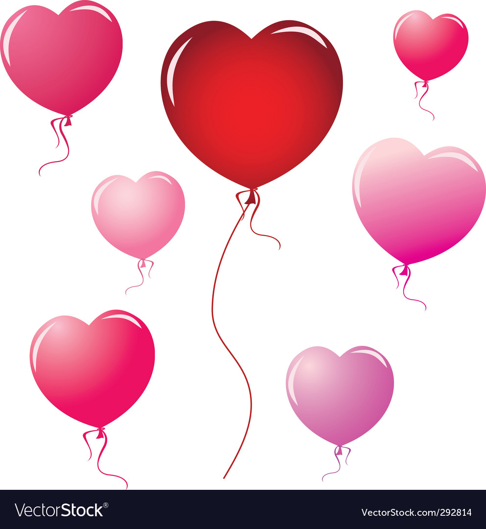 Heart shape balloons vector | Price: 1 Credit (USD $1)