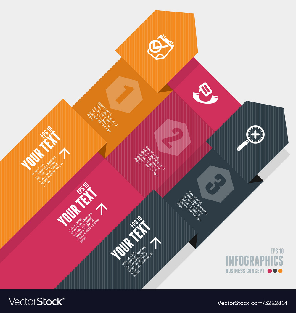 Infographics options banner 1 2 3 vector | Price: 1 Credit (USD $1)