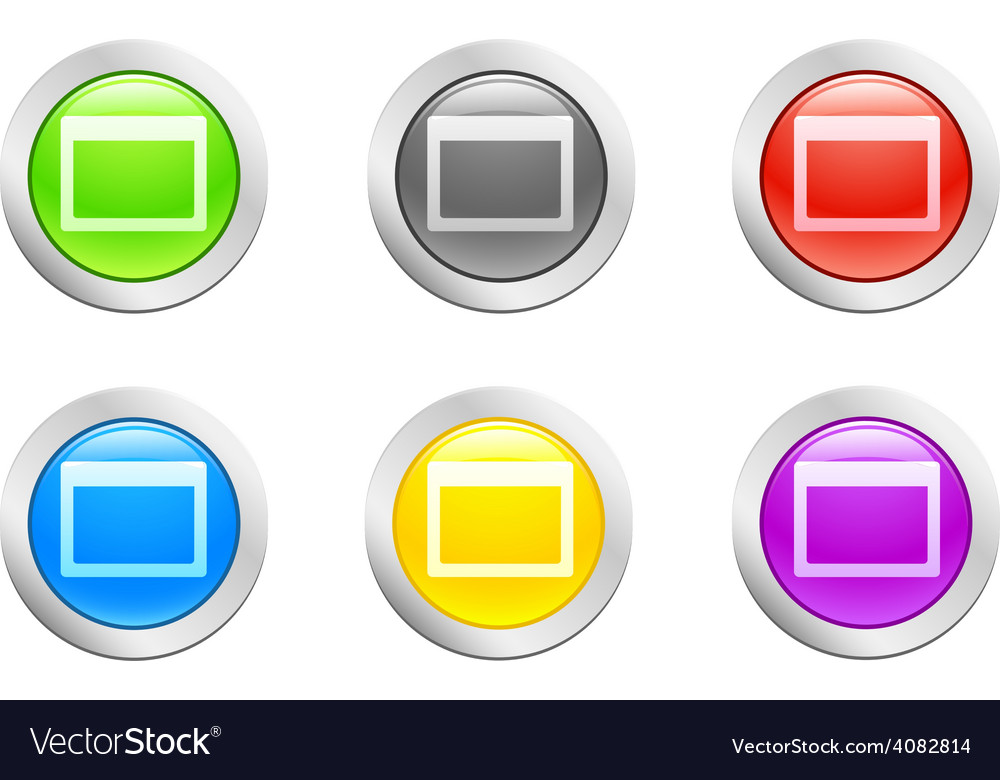 Open button vector | Price: 1 Credit (USD $1)