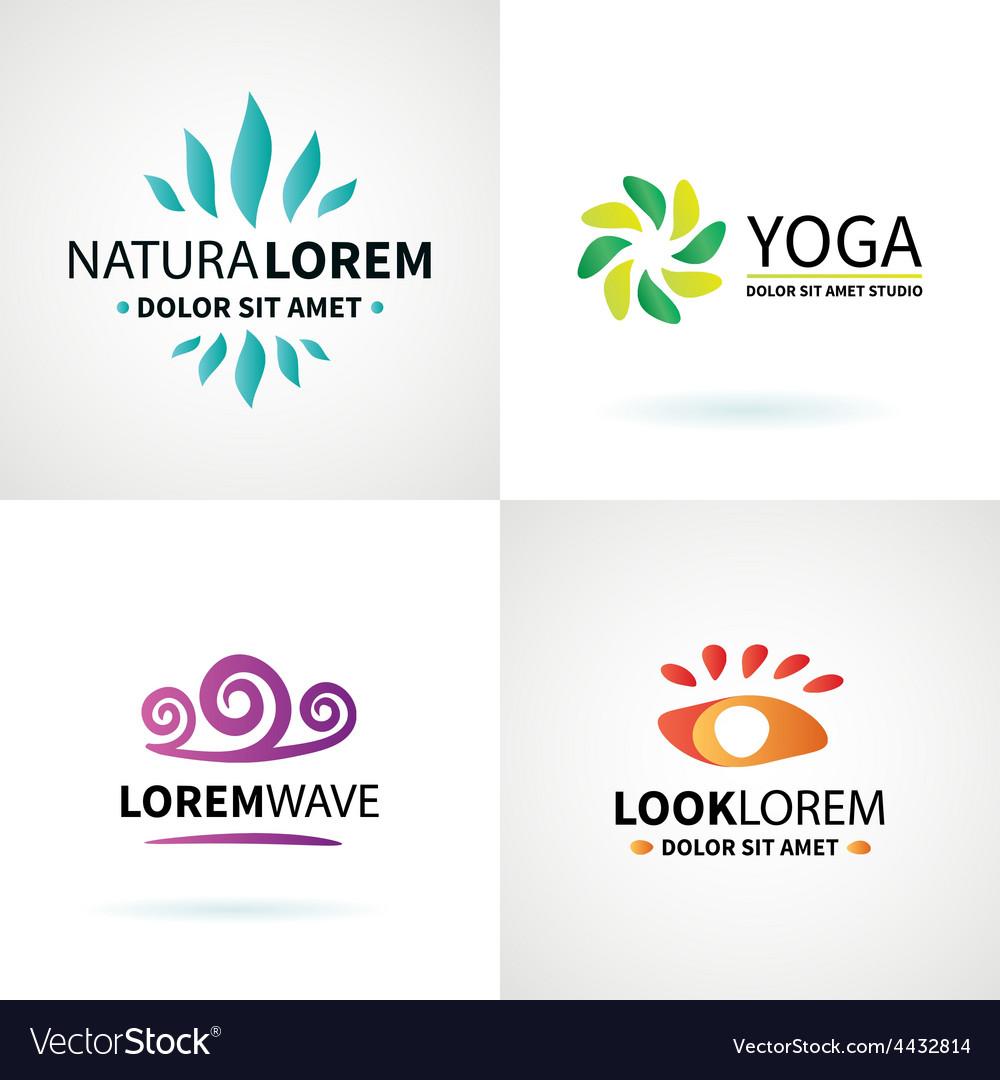 Set of natural spa yoga wellness meditation vector | Price: 1 Credit (USD $1)