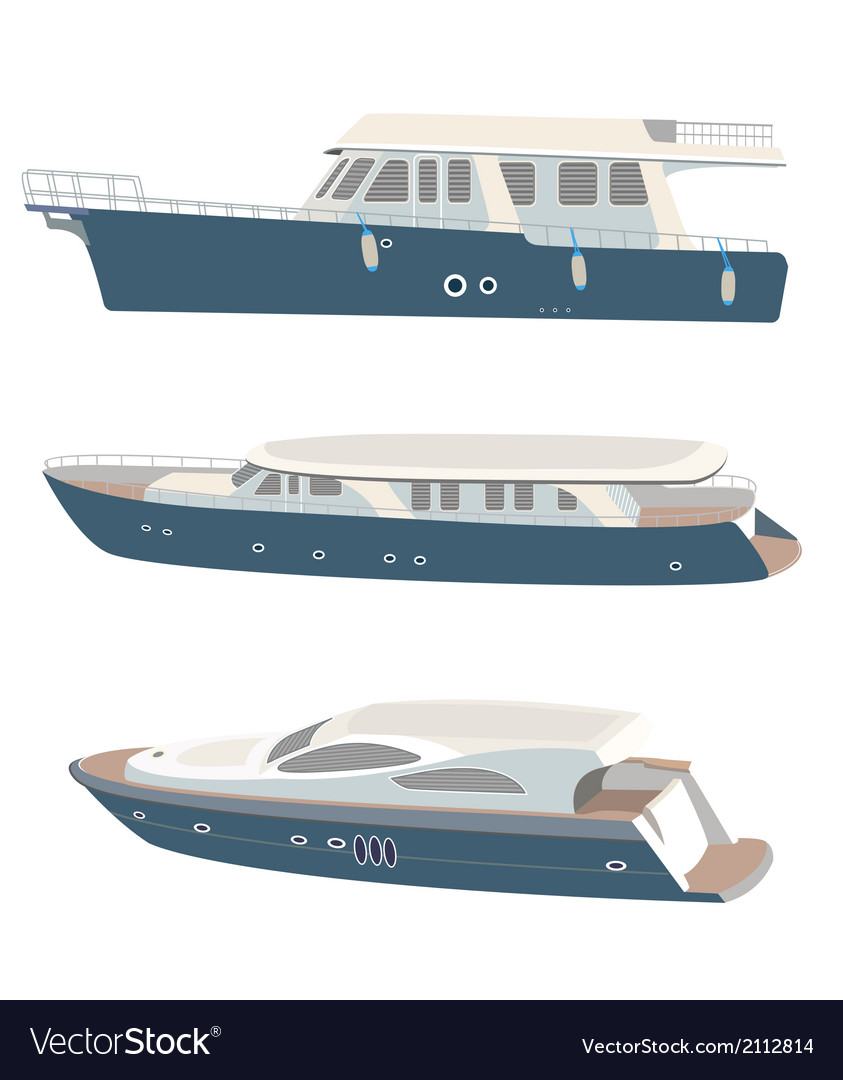 Set of yacht vector | Price: 1 Credit (USD $1)