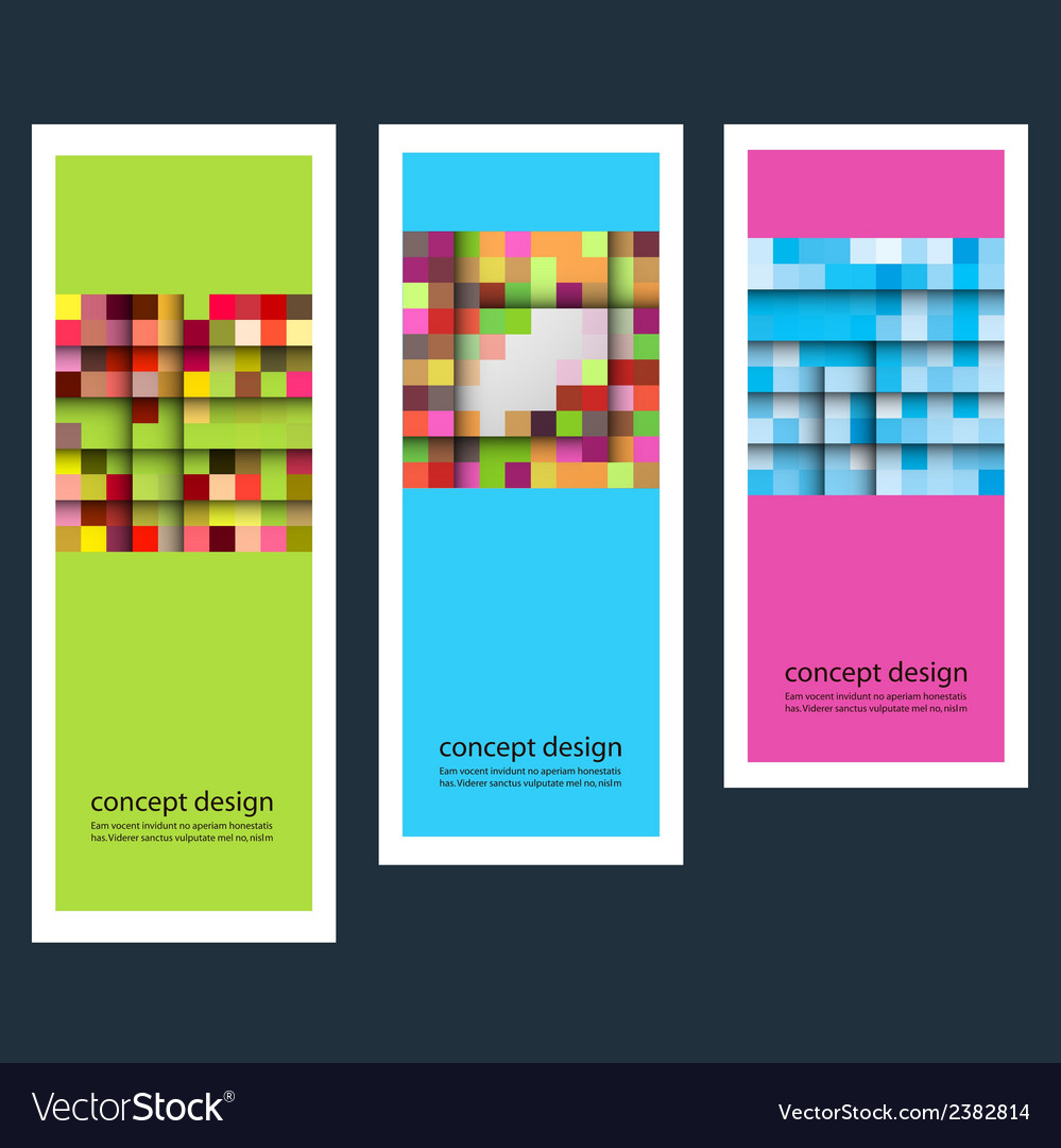 Three abstract sticker squares eps vector | Price: 1 Credit (USD $1)