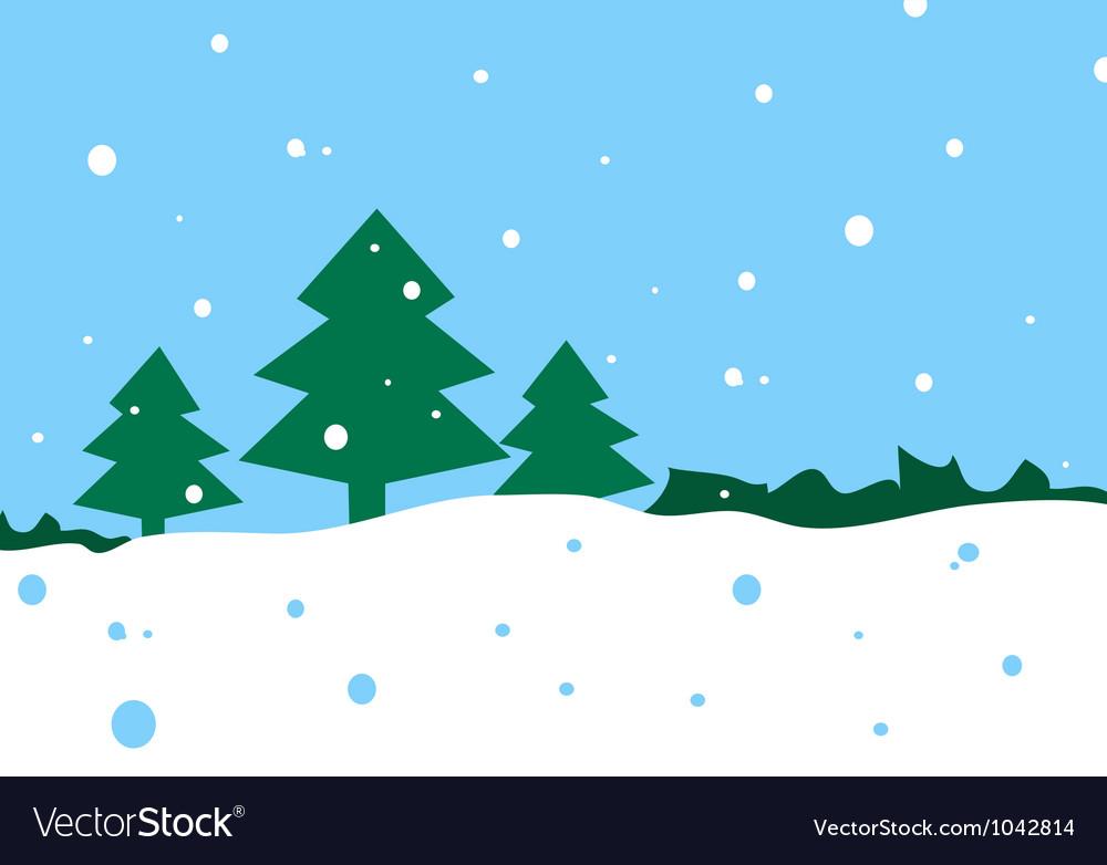 Winter cartoon landscape vector   Price: 1 Credit (USD $1)