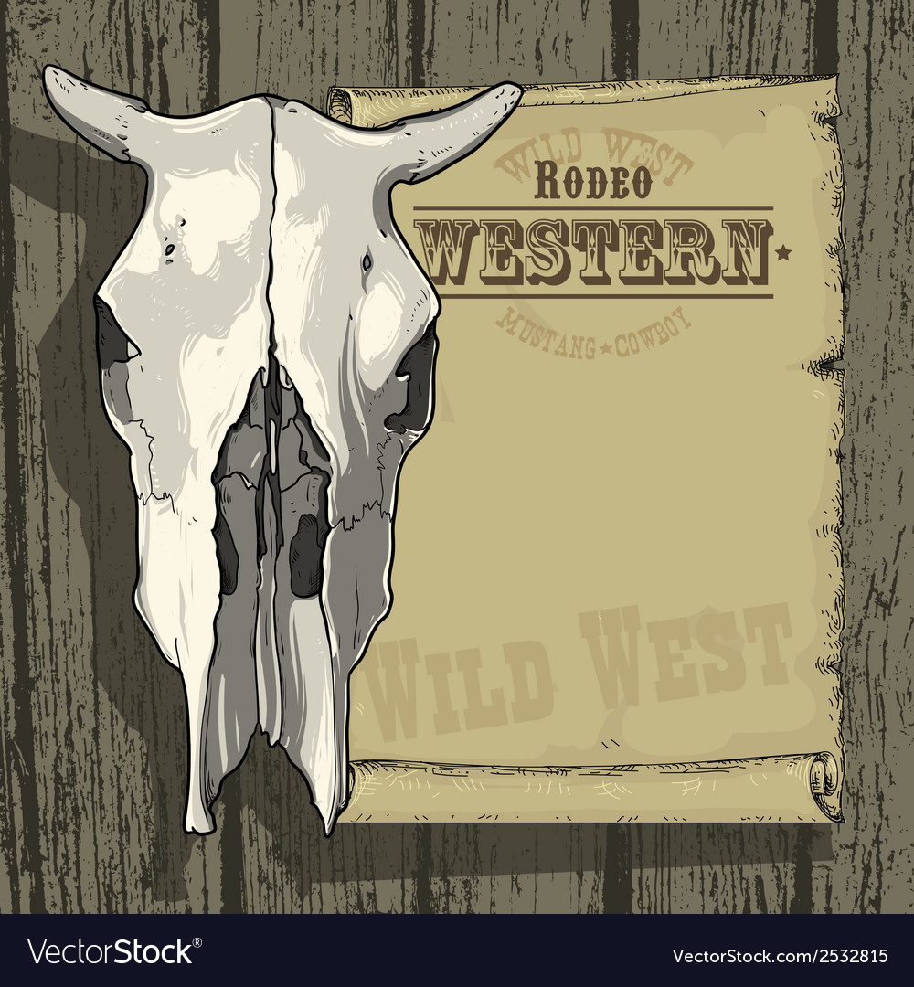 Advertisement rodeo western vector | Price: 1 Credit (USD $1)