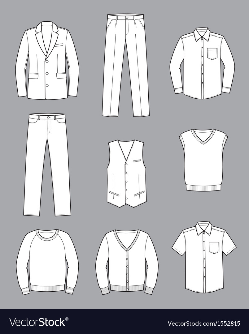 Business clothes vector