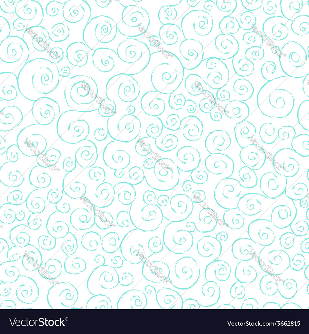 Graceful seamless pattern with hand drawn swirls vector | Price: 1 Credit (USD $1)