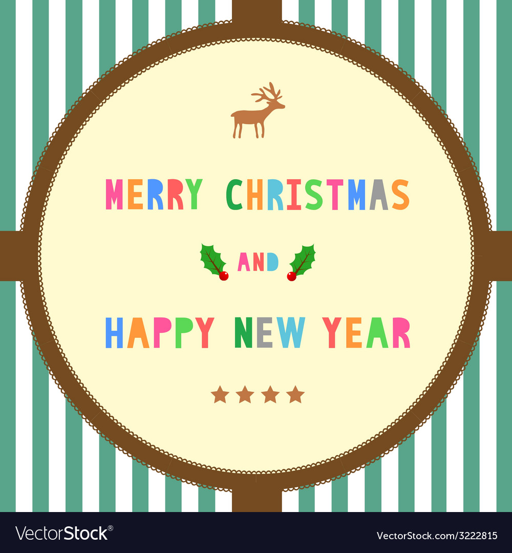 Mc and hny greeting card16 vector | Price: 1 Credit (USD $1)