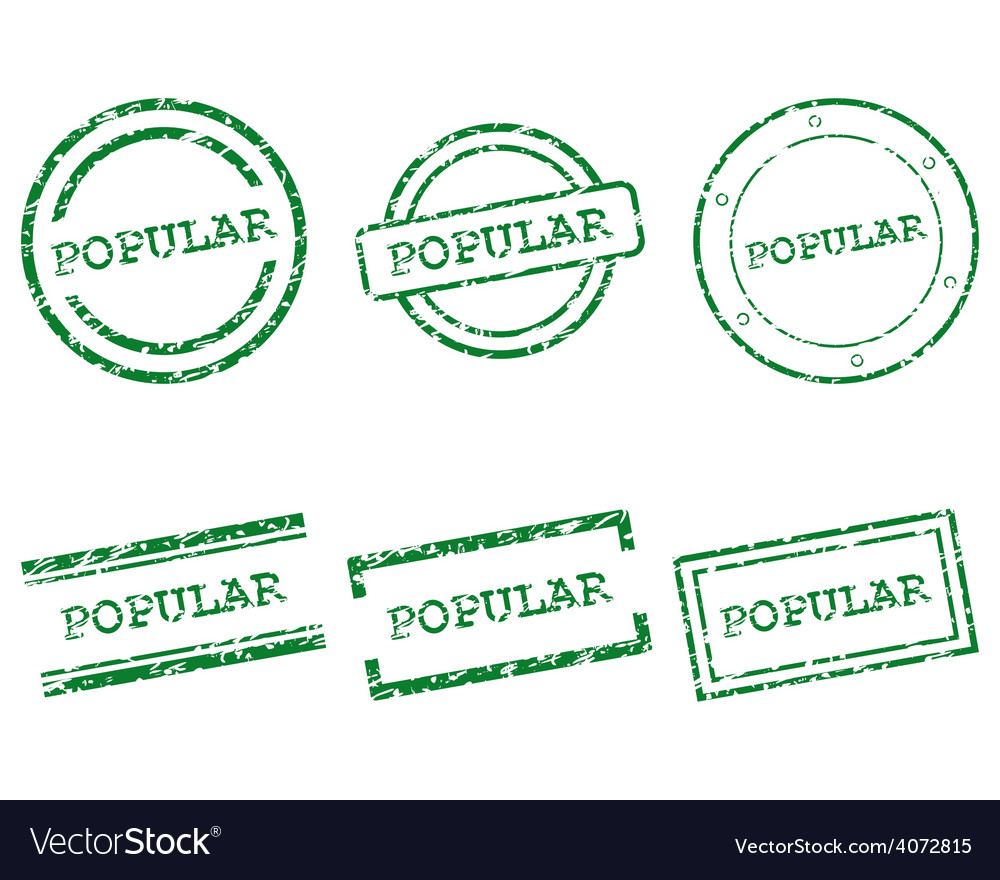Popular stamps vector | Price: 1 Credit (USD $1)