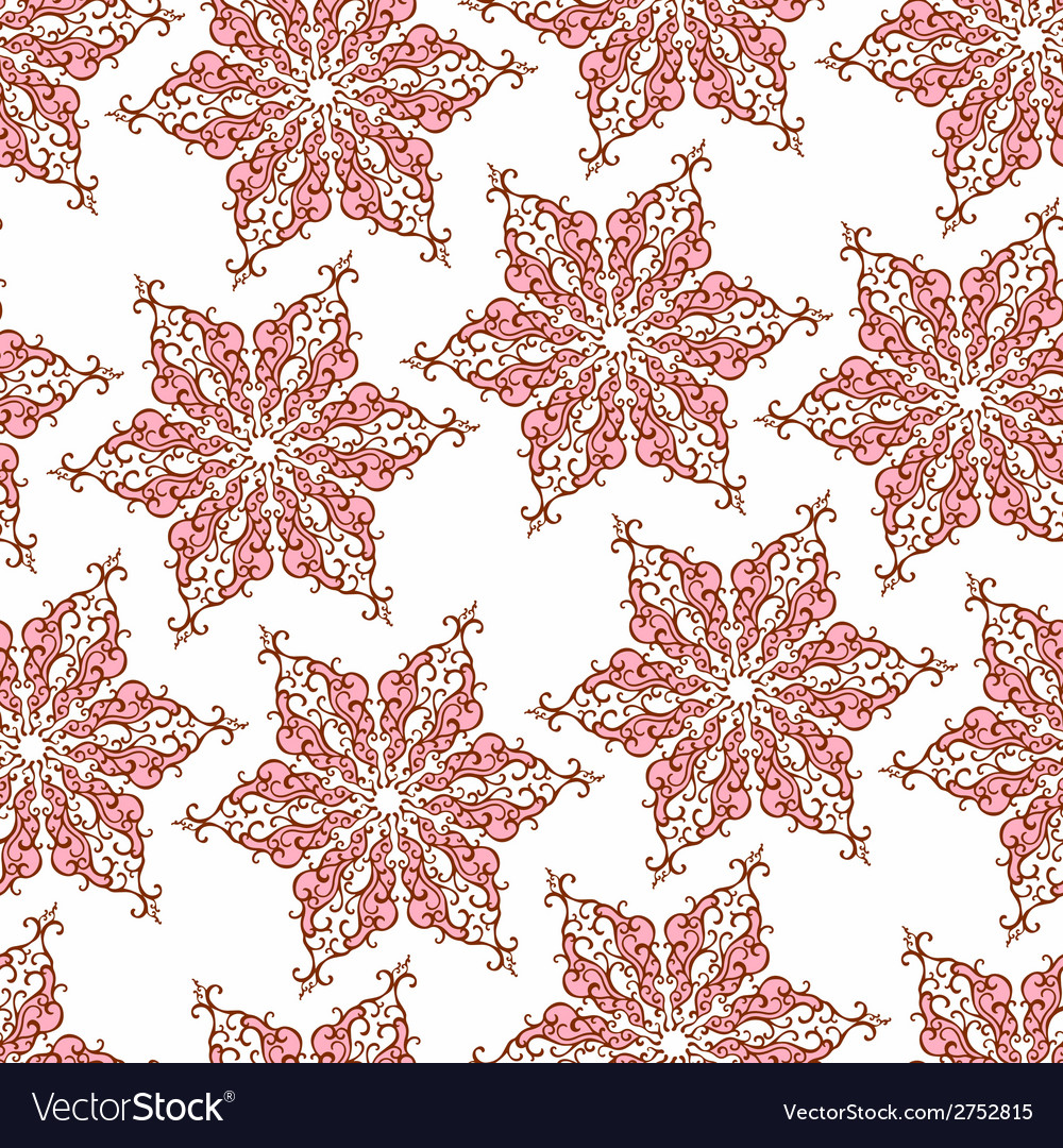 Seamless pattern with decorative snowflakes vector | Price: 1 Credit (USD $1)