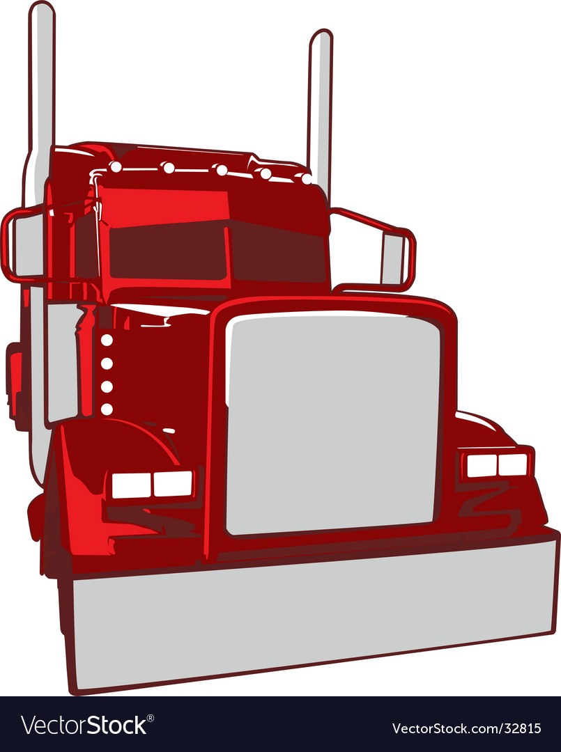 Semi truck illustration vector | Price: 1 Credit (USD $1)
