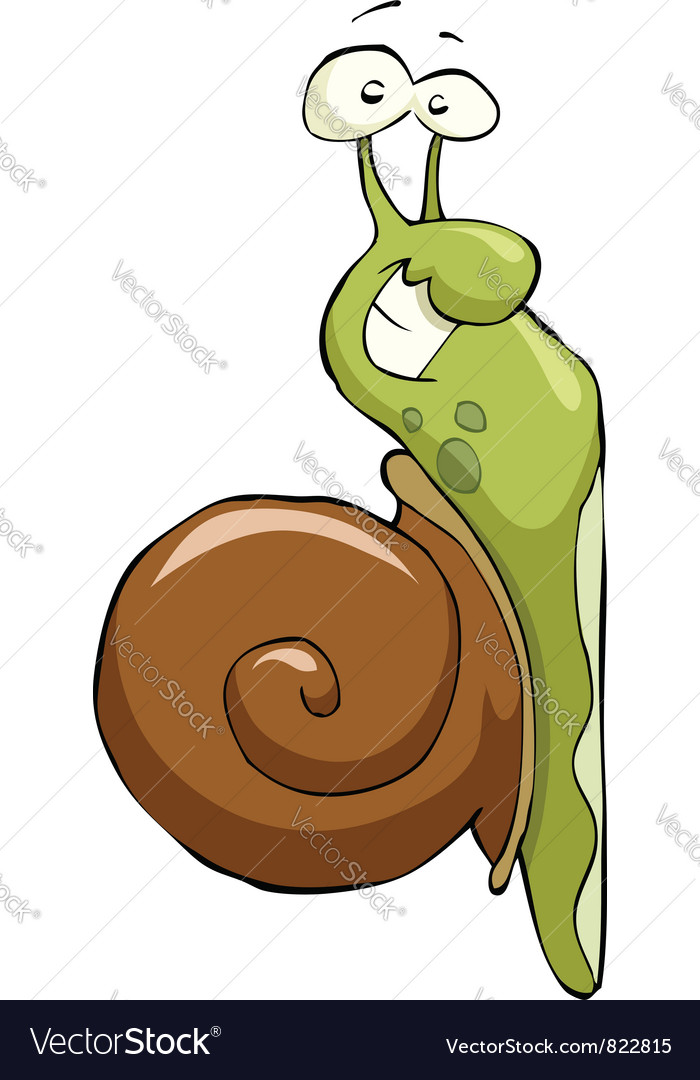 Snail crawling up vector | Price: 3 Credit (USD $3)