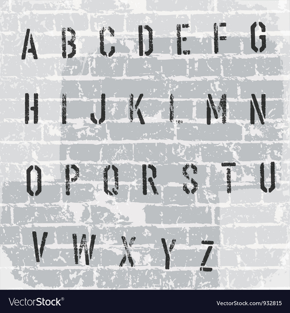 Stencil grunge font vector | Price: 1 Credit (USD $1)