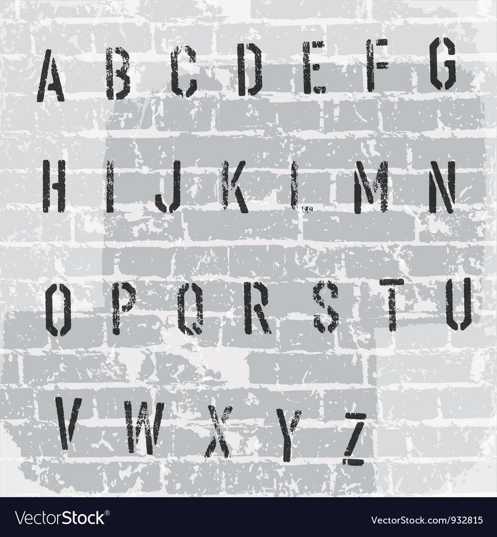 Stencil grunge font vector | Price: 1 Credit (USD $1)