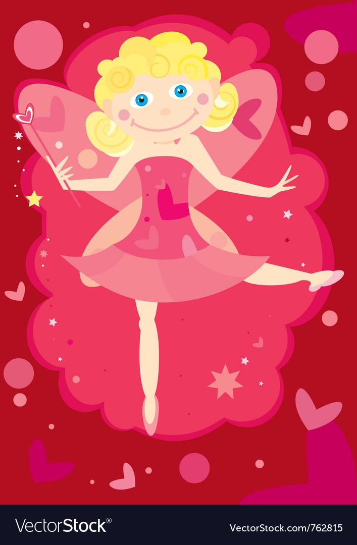 Valentine fairy vector