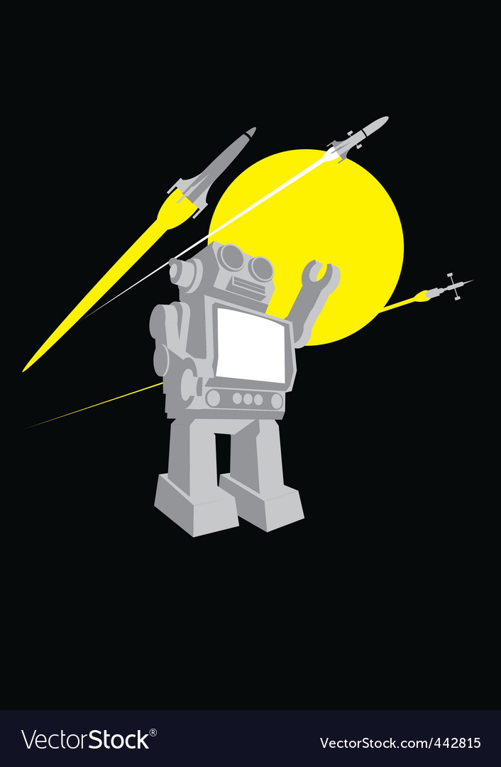 Vintage robot space toy vector | Price: 1 Credit (USD $1)
