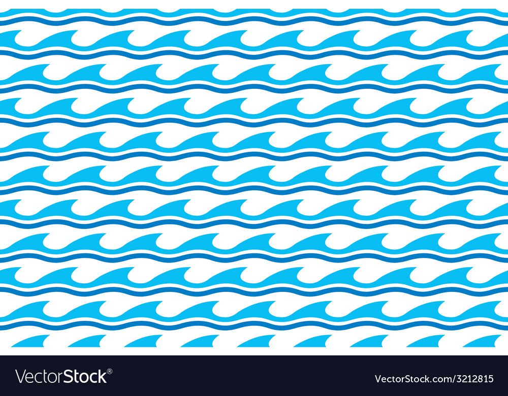 Water wave seamless patterns vector | Price: 1 Credit (USD $1)
