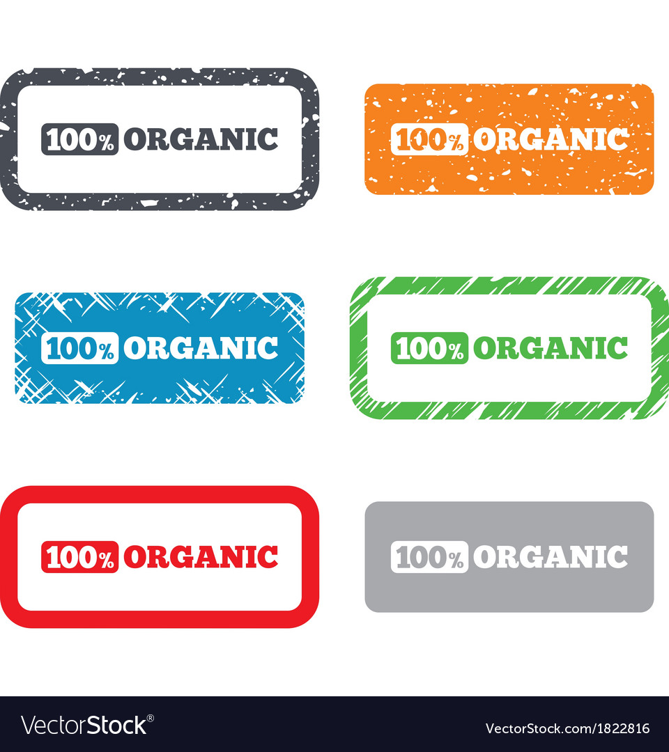 100 percent organic sign natural food symbol vector   Price: 1 Credit (USD $1)