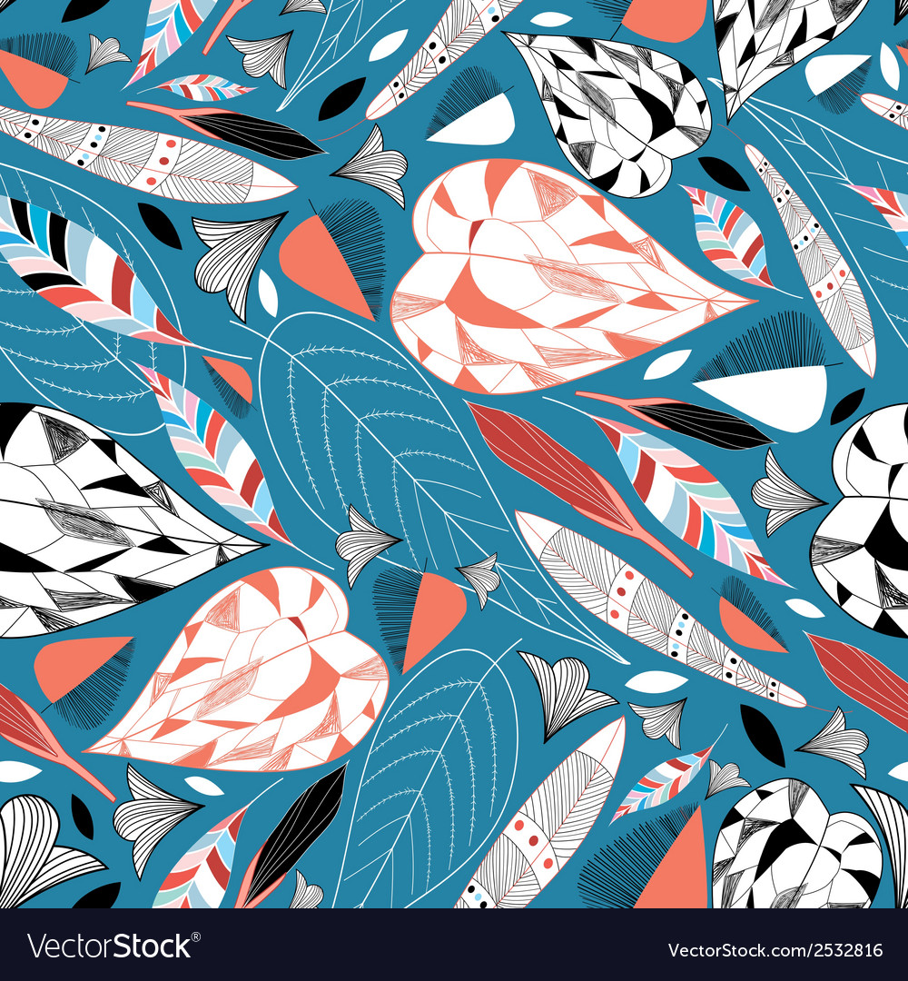 Autumn leaf pattern vector | Price: 1 Credit (USD $1)