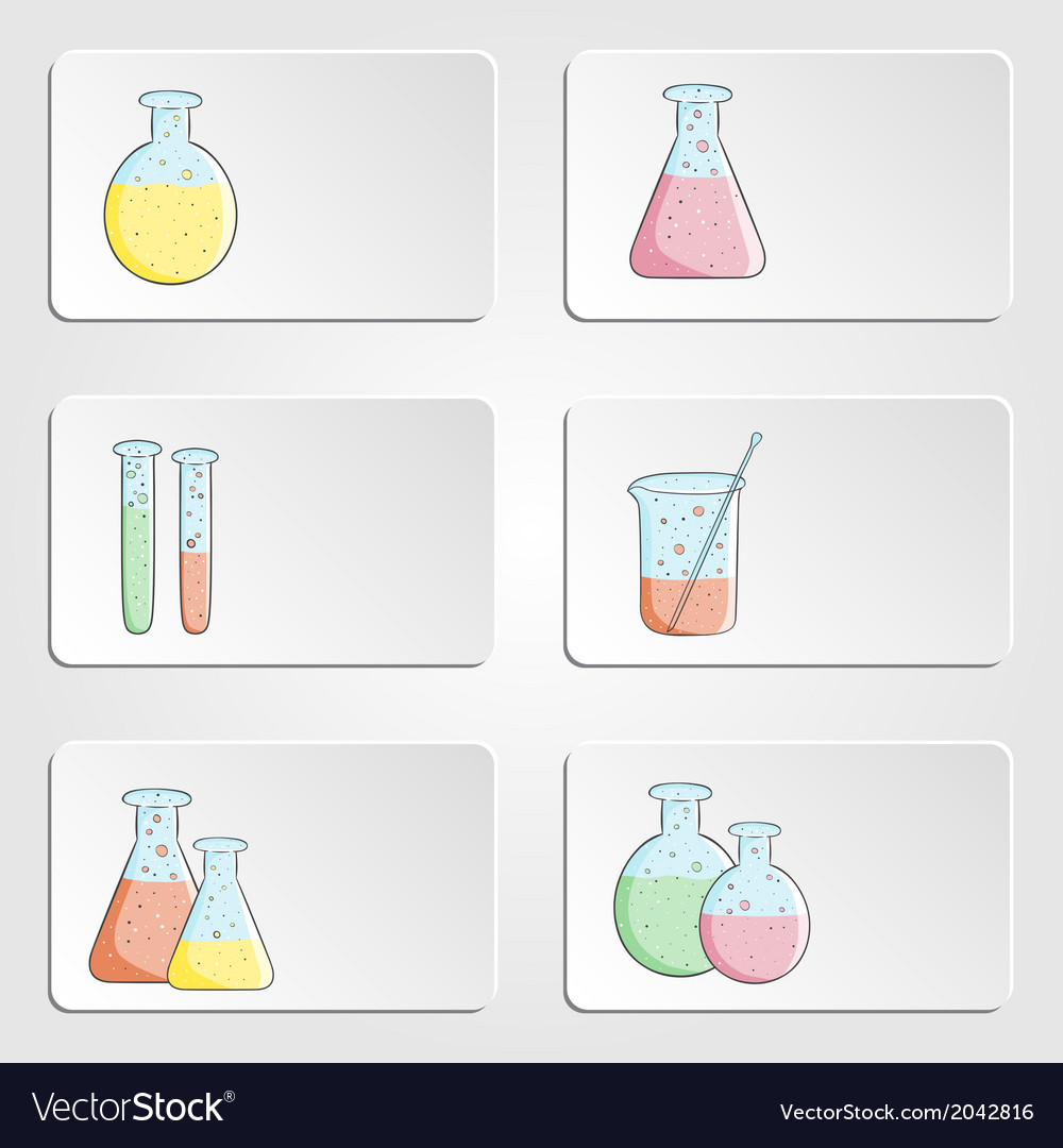 Banners with laboratory test tubes vector | Price: 1 Credit (USD $1)