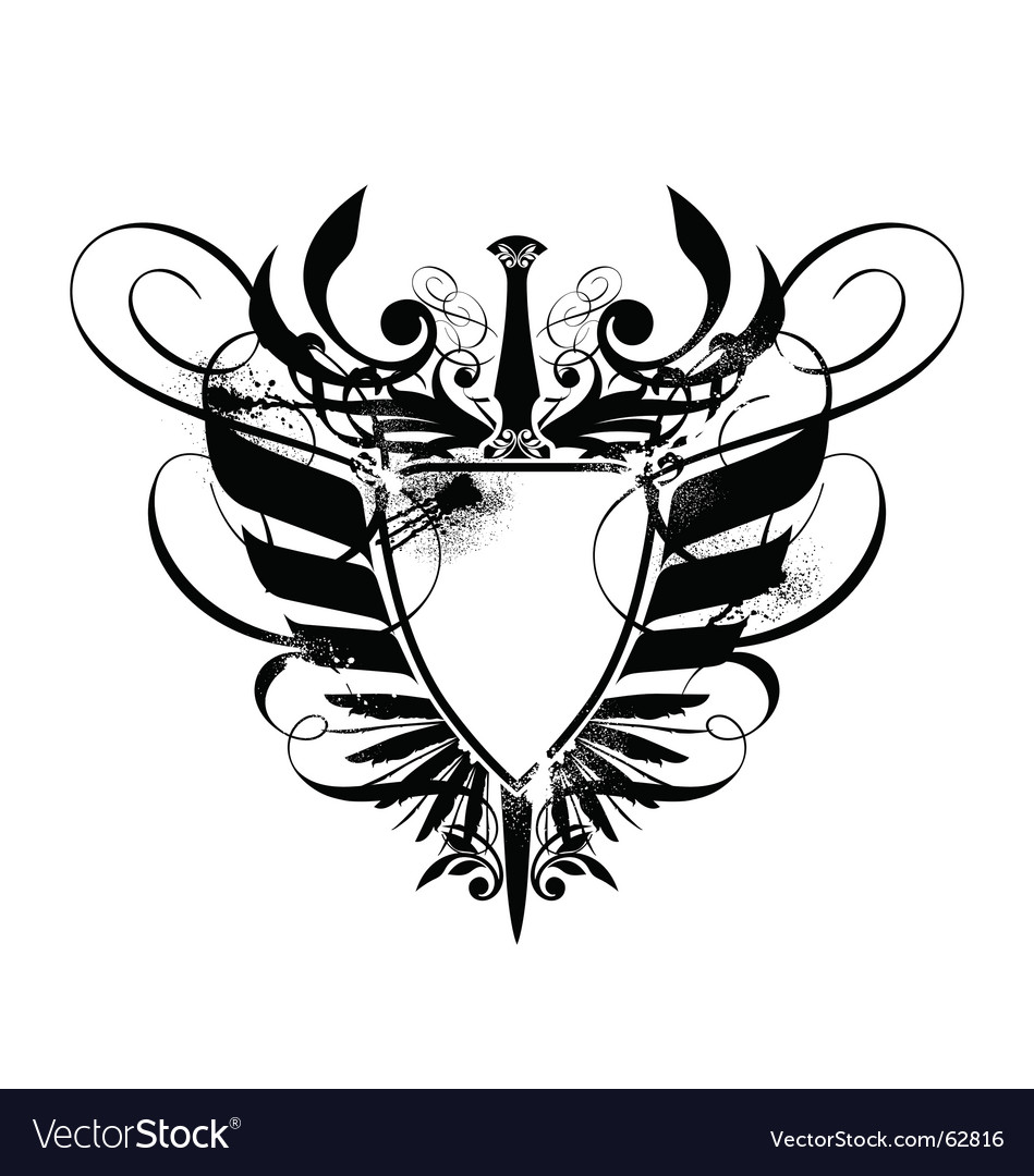 Heraldry shield with axe vector   Price: 1 Credit (USD $1)