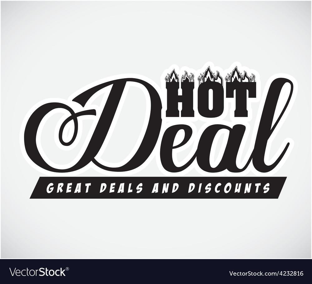 Hot deal design vector | Price: 1 Credit (USD $1)