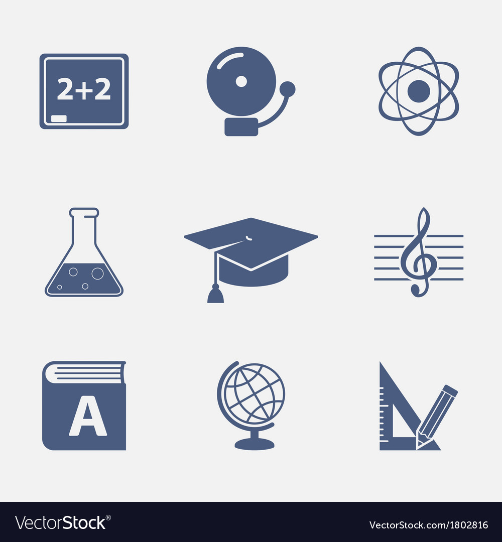 Interface elements for education website vector | Price: 1 Credit (USD $1)
