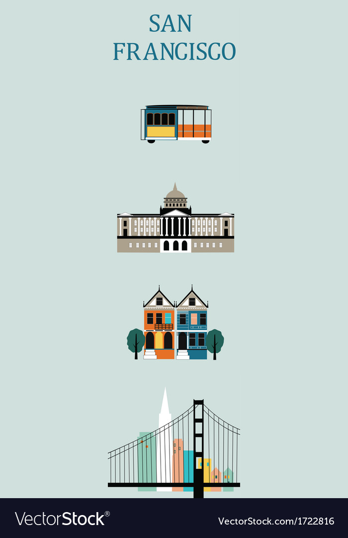 Symbols of san francisco vector | Price: 1 Credit (USD $1)