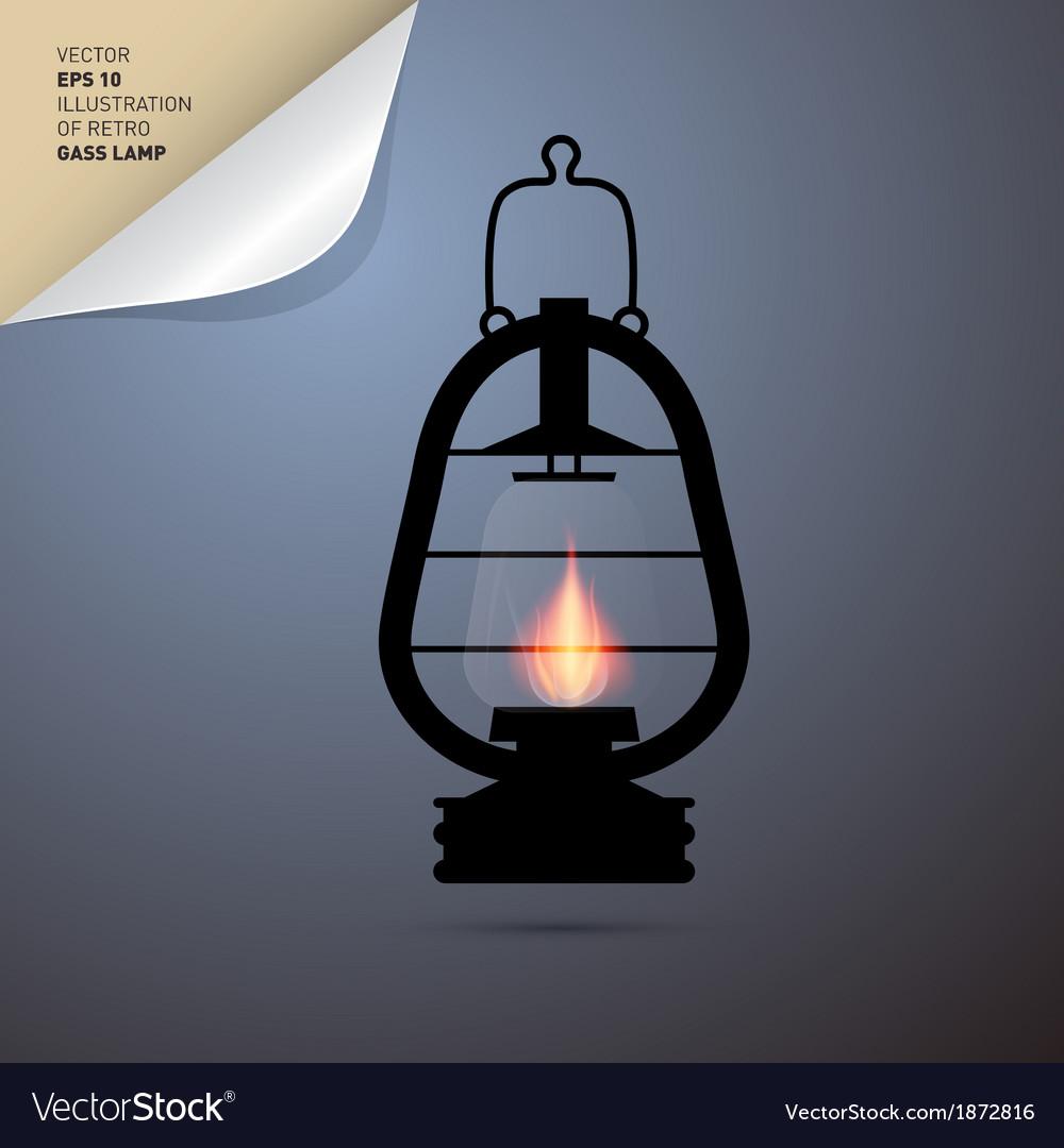 Vintage lantern gas lamp vector | Price: 1 Credit (USD $1)