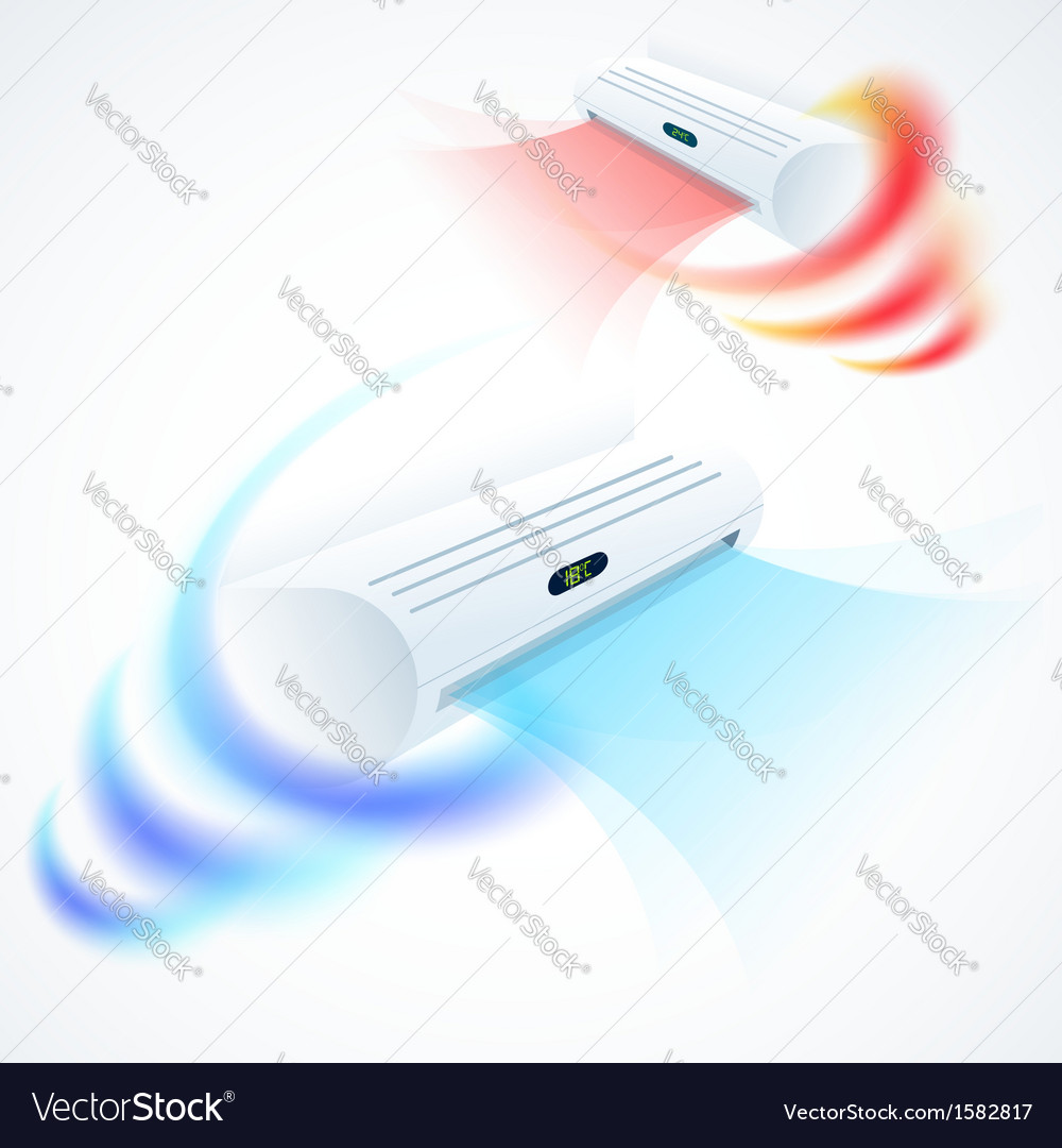 Air conditioners cool fun climate element set vector | Price: 1 Credit (USD $1)