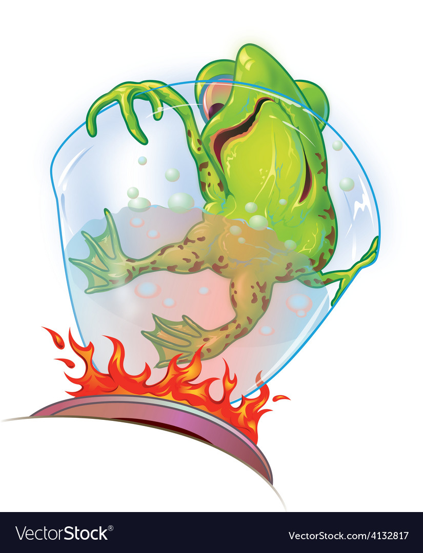 Boiling frog syndrome vector | Price: 1 Credit (USD $1)