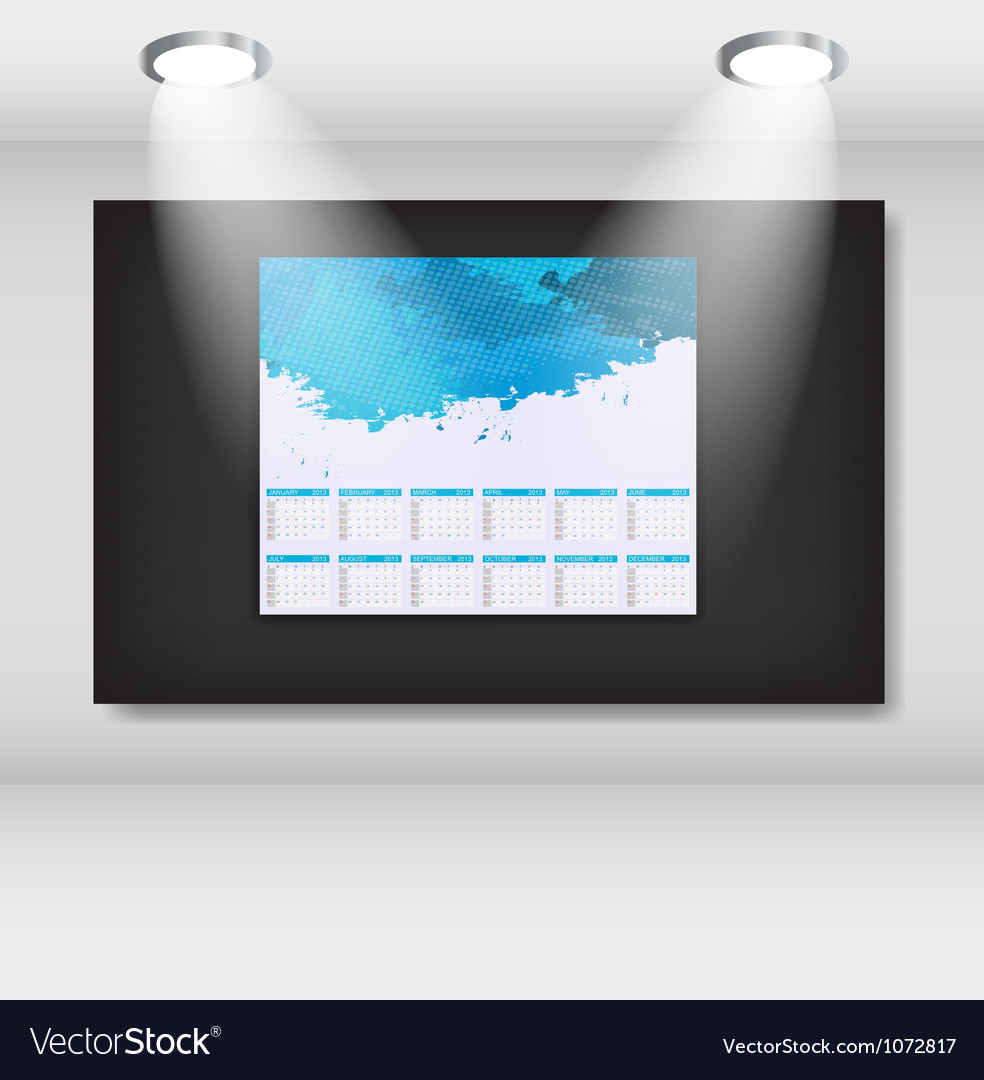 Frame with 2013 year calendar art gallery vector | Price: 1 Credit (USD $1)