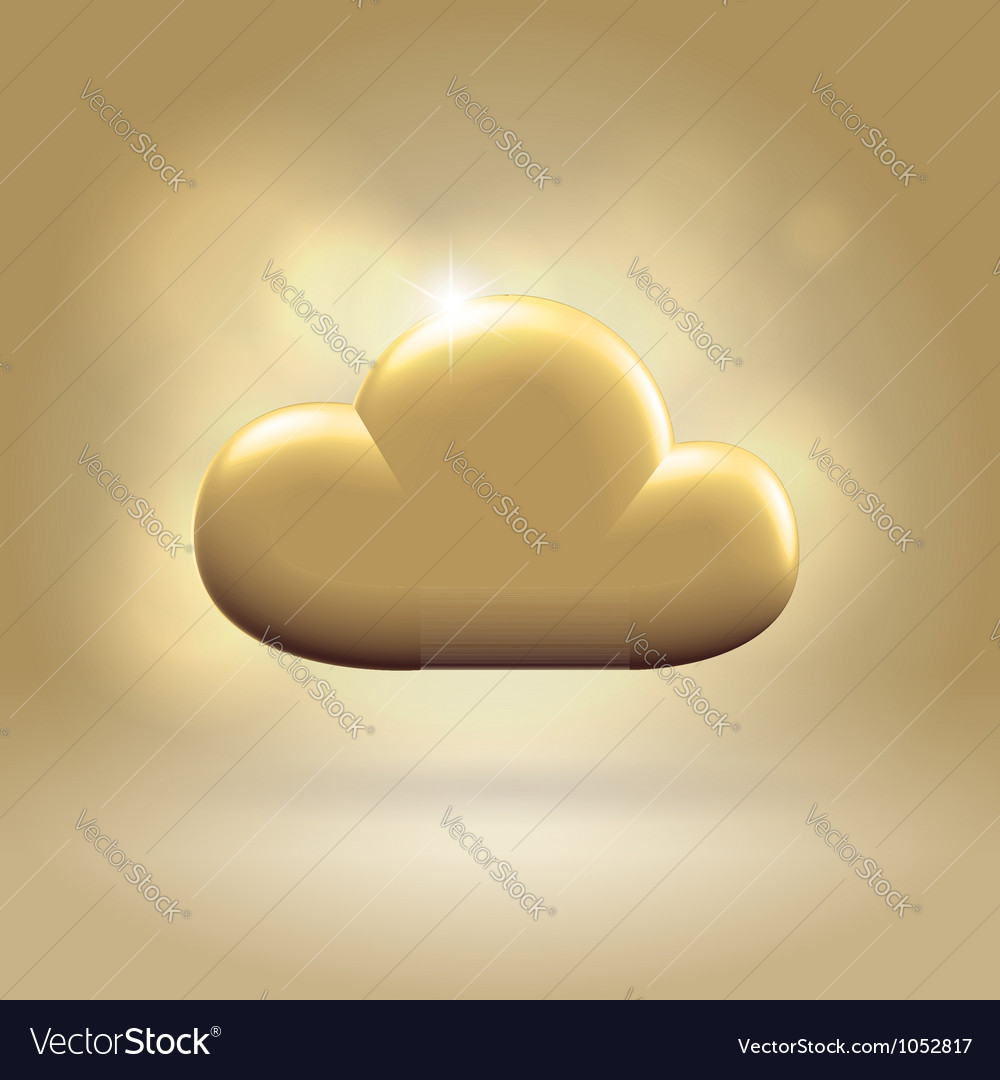 Golden cloud award vector | Price: 1 Credit (USD $1)