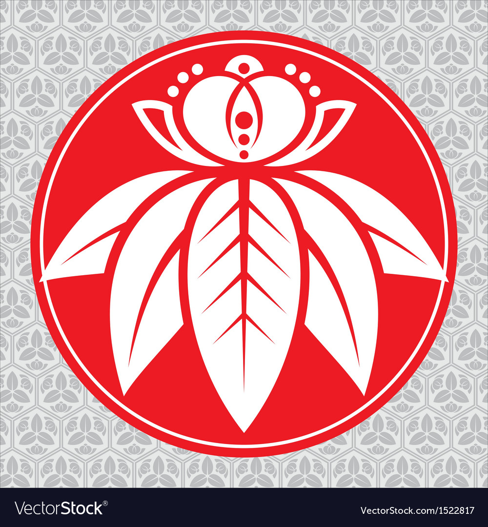 Japanese lotus vector | Price: 1 Credit (USD $1)