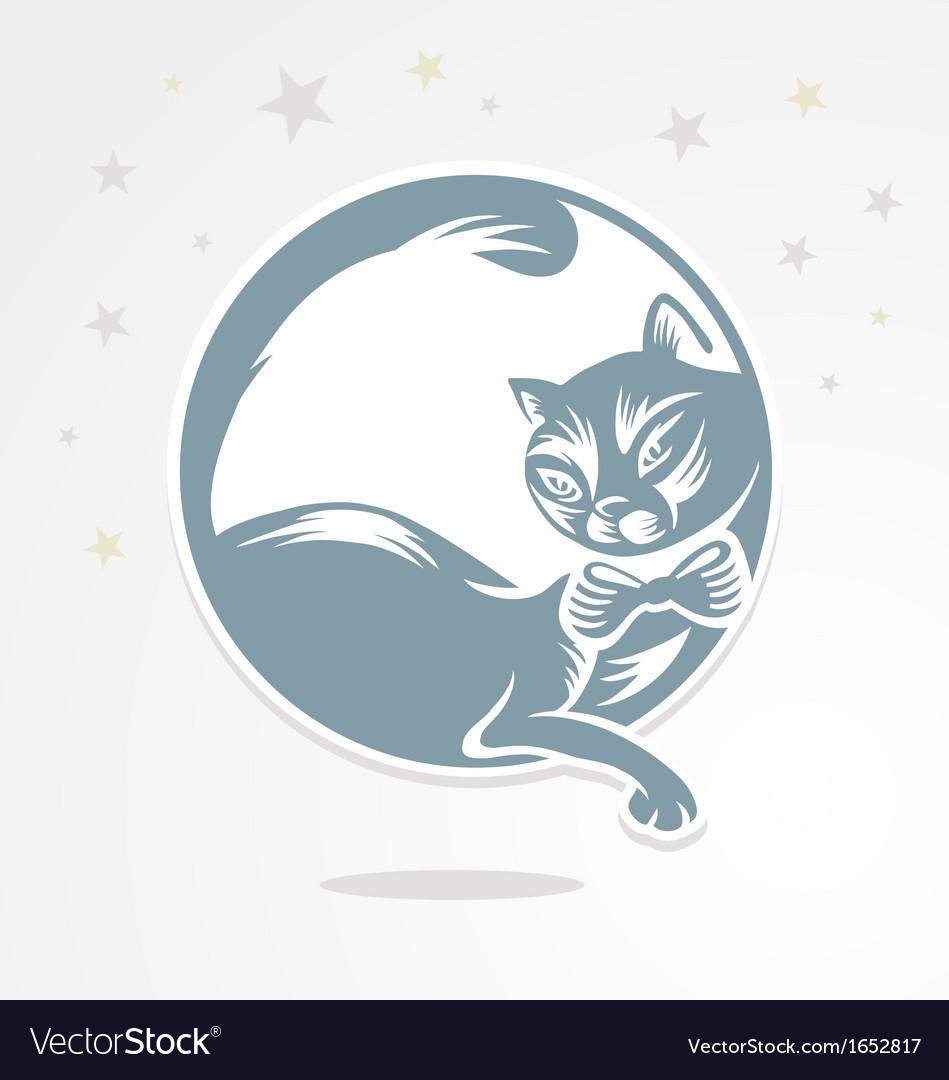 Lunar cat vector | Price: 1 Credit (USD $1)