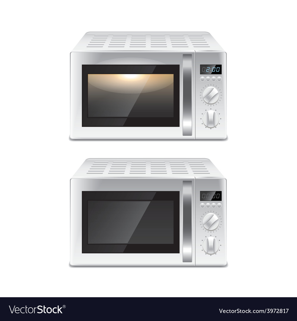 Microwave oven isolated vector | Price: 3 Credit (USD $3)
